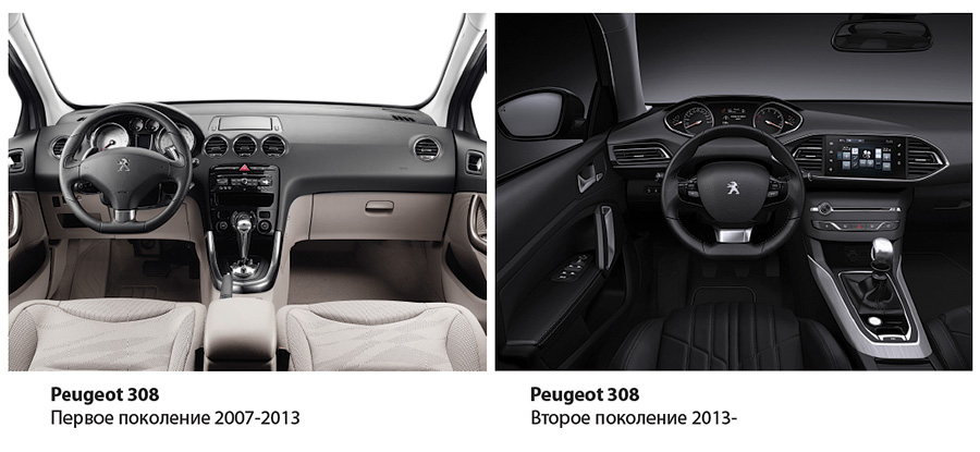 Peugeot 308 old and new
